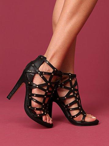 Victoria Criss Cross Heel :  platform sexy heels sandals