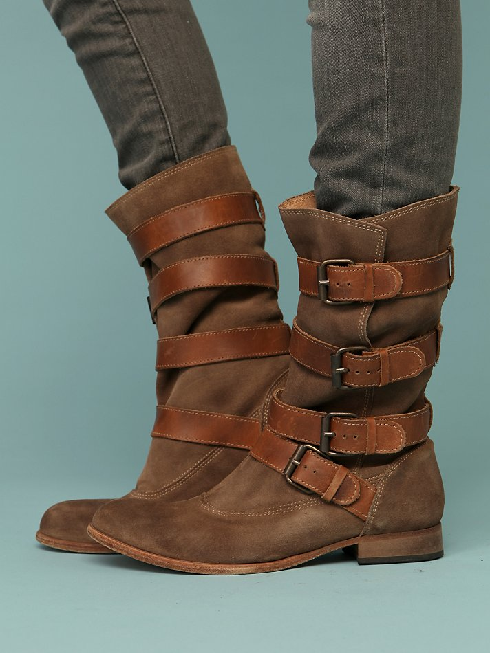 Free People Clothing Boutique Keira Buckle Boot from freepeople.com