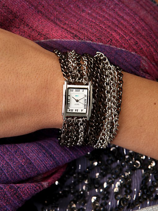 Gunmetal Chain Wrap Watch