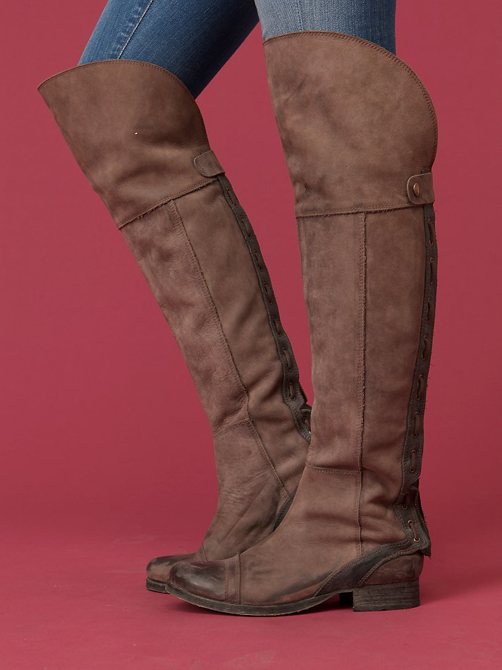 Free People - Zip Back Over The Knee Boot from freepeople.com