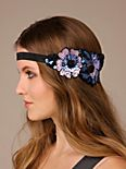 Flower Cluster Sequin Applique Headband
