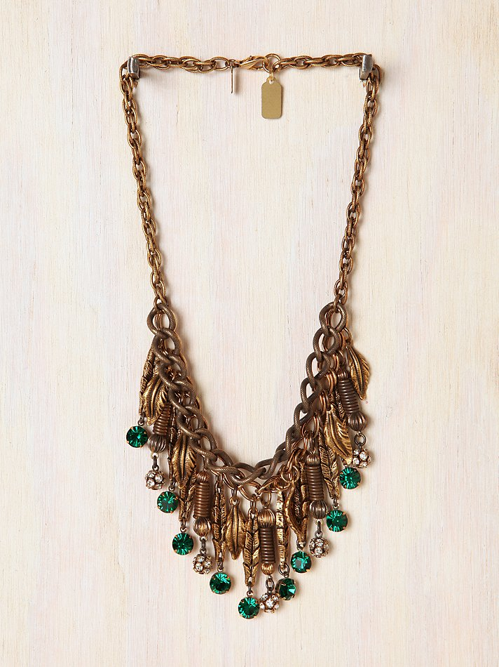 Free People - One Of A Kind Falling Leaves Necklace :  necklace free people necklace one of a kind falling leaves neckace free people