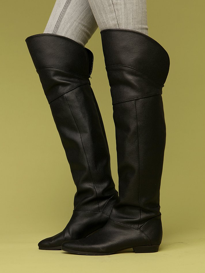 Seamed Over The Knee Boot at Free People Clothing Boutique :  otk boots made in portugal cri de coeur boots