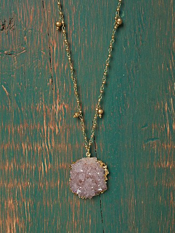 Amethyst Crystal Pendant at Free People Clothing Boutique