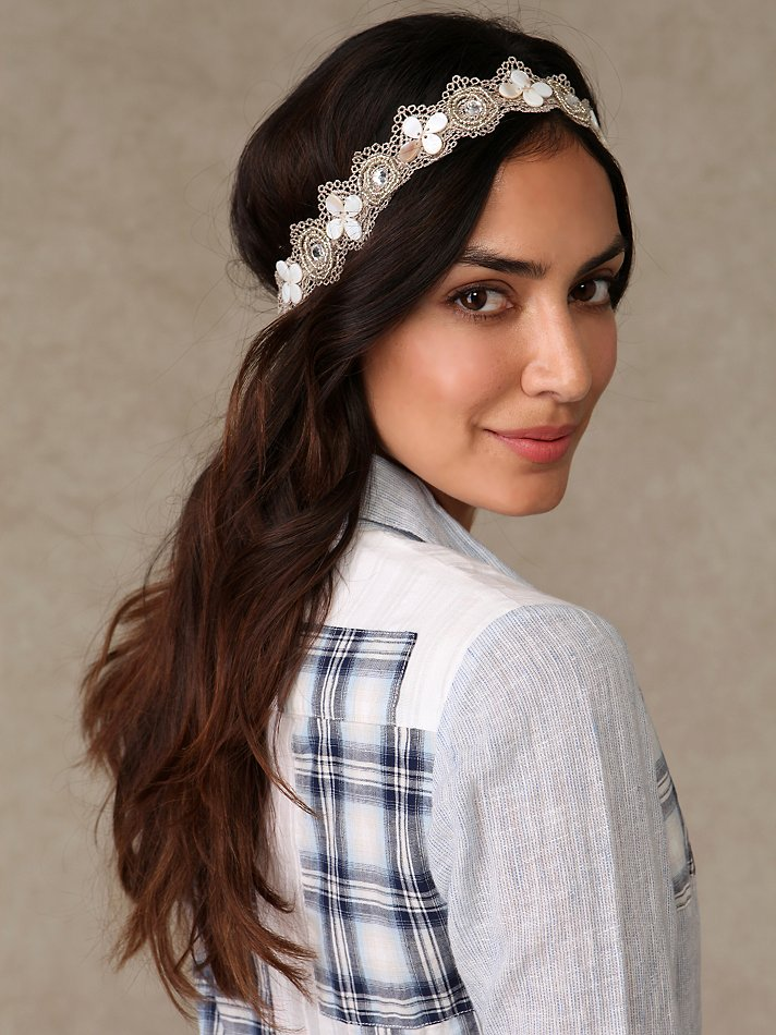 Shell & Crochet Headband :  headband hair accessories shells hair