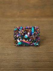 Rainbowed Druzy Ring at Free People Clothing Boutique