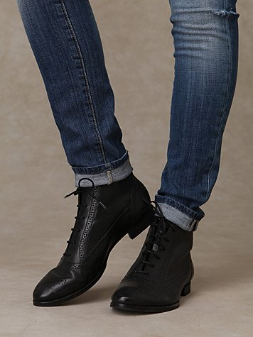 Oxford Ankle Boot- Free People   :  shopping leather oxfords free people