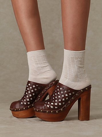 Cayenne Cutout Clog at Free People Clothing Boutique :  rounded toe studs womens brown