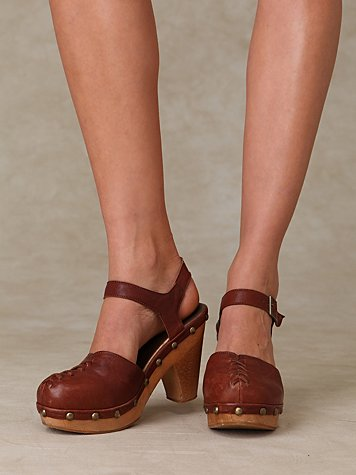 Doub Studded Clog at Free People Clothing Boutique :  rubber sole wood closed toe free people