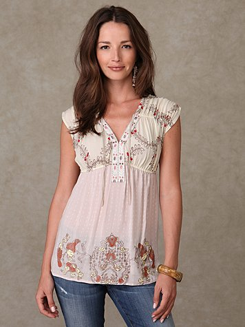 Short Sleeve Summer Fern Tunic at Free People Clothing Boutique
