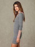 3/4 Length Sleeve Double Scoop Tunic