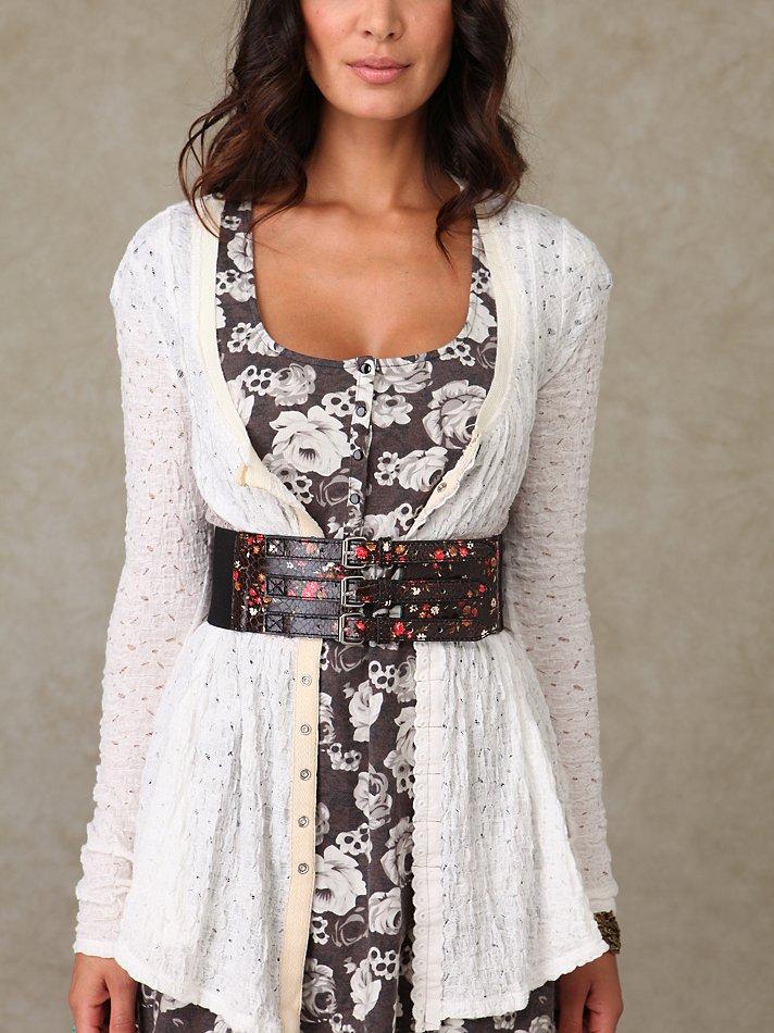 Free People - Ditsy Buckle Waist Belt :  floral belt floral print belt floral free people ditsy buckle waist belt