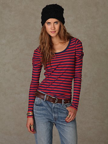 We The Free Gathered Stripes Top