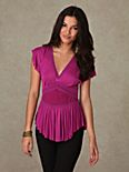 Short Sleeve Corset Deep V Top