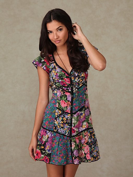 Printed Shapeless Patch Dress