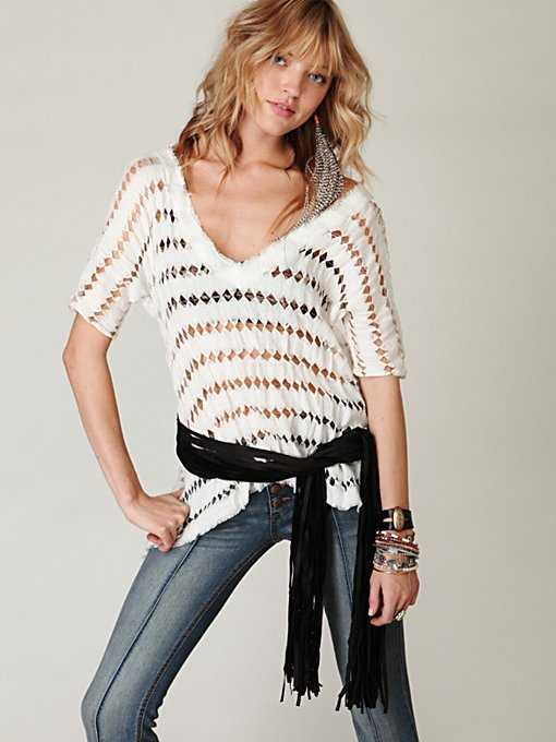 Wrapped in Fringe Vest Belt in september-10-catalog-items
