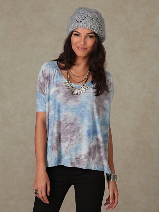 We the Free Short Sleeve Tie Dye Boyfriend Tee