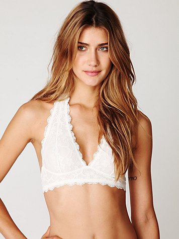 Intimately Free People Galloon Lace Halter Bralette