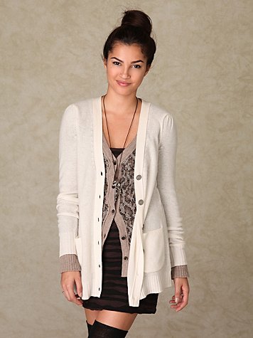 Cashmere Puff Sleeve Cardigan at Free People Clothing Boutique :  cardigans sweaters apparel