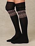 Band Of Fairisle Tall Sock