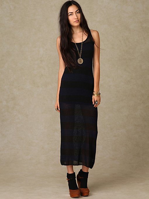 Stripe Sweater Maxi Dress