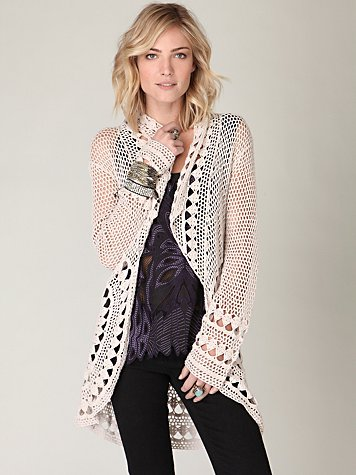 Rounded Up Crochet Cardigan