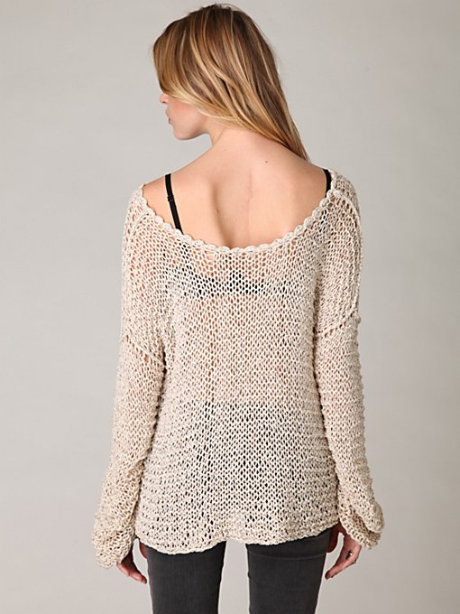 Tape Yarn Beach Sweater