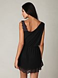 One Shoulder Lace Trim Tunic