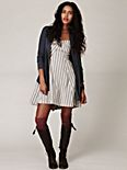 Striped Fit N Flare Dress