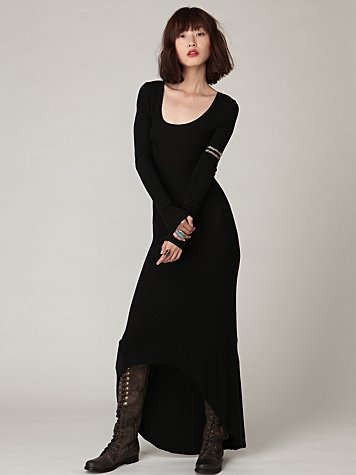 Tencel Rib Maxi Dress
