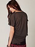 Burnout V Neck Tee