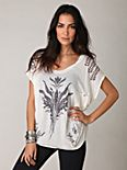 Slouchy Sheer Graphic Tee