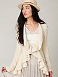 Sweeping Ruffle Cardigan