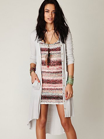 Ribbed Up Maxi Cardigan at Free People Clothing Boutique :  cardigans sweaters maxi apparel
