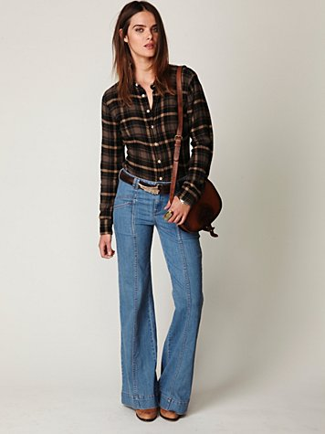 Super 70's Wideleg Jean at Free People Clothing Boutique :  pants super 70s jeans wide leg