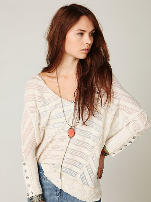Boxy Sheer Stripe Pullover