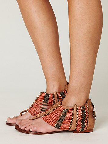 Molly Beaded Sandal at Free People Clothing Boutique from freepeople.com