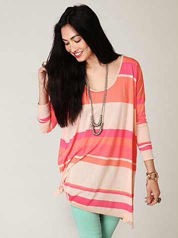 Long Sleeve Striped Extreme Boxy Tee