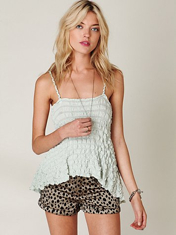 FP New Romantics Puckered Gauze Tank