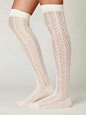 Kawaii Crocheted Over the Knee Sock