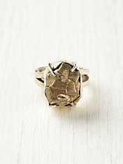 Pyrite Crystal Ring