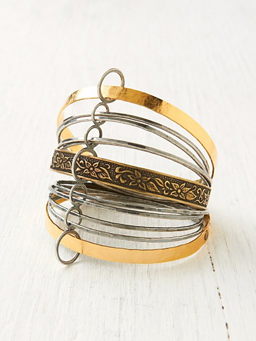 Bronze Coiled Bangle Set