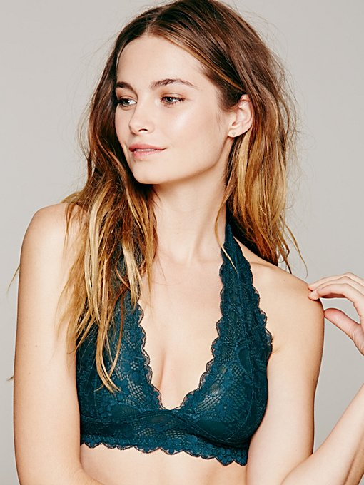 Galloon Lace Halter Bra