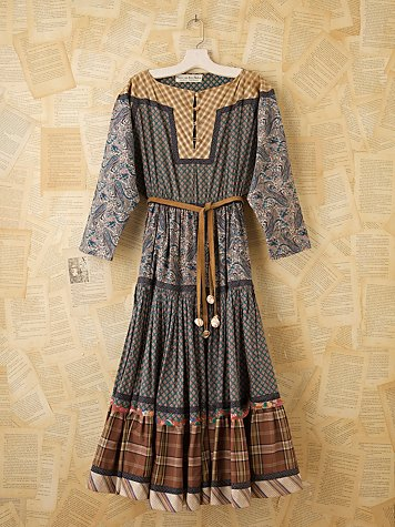 Vintage Koos Van Den Akker Dress at Free People Clothing Boutique :  vintage loves vintage dress vintage