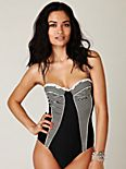 Stripe Underwire One Piece