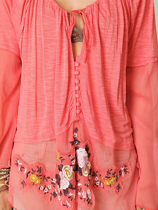 Meadow Embroidered Chiffon Top