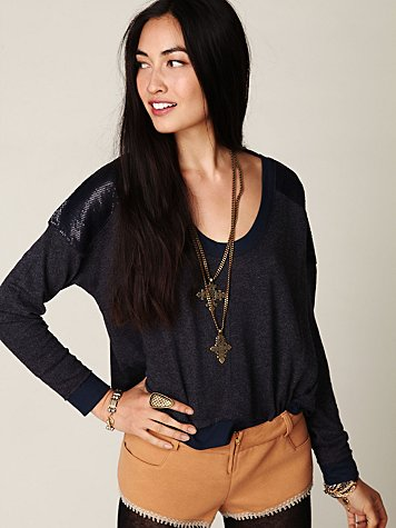 Sequin Shoulder Pullover