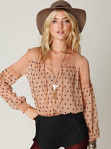 Polka Dotted Boho Top