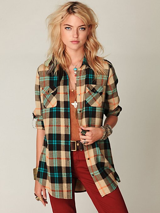 Flannel Buttondown Tunic
