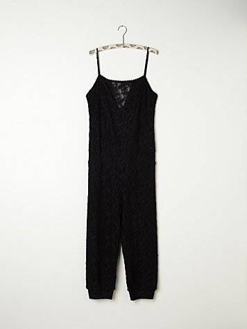 Waxed Lace Romper